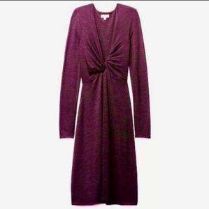 Artitzia Wilfred Free Twist Dress in Burgundy Sz L
